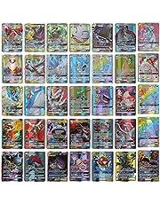 Emeili 100 verschillende Pokemon kaarten, Cartoon Game Card Kinderen GX Trading Cards, Anime Card Set Inclusief 95 GX-Kaarten+5 MEGA Kaarten