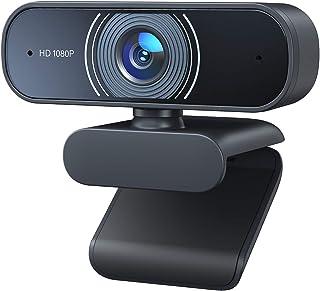 RaLeno Cámara web Full HD 1080P con doble micrófono, gran angular de 80°, con enfoque automático, Plug & Play, para Zoom, ...