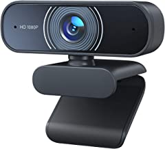 1080P Webcam with Microphone, RaLeno Web Camera with Auto Light Correction USB2.0 Desktop Laptop Computer, Plug and Play(30fps), for Window Mac OS, Video Streaming, Conference, Gaming, Online Classes