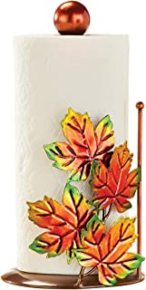 Fall Leaves Metallic Paper Towel Holder, Autumn Kitchen Décor