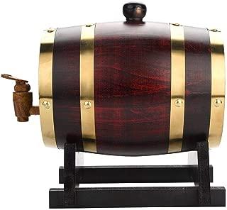 Bote de vino de roble, 1,5/3/5 litros, barril de roble para vino Whisky Tequila, dispensador de vino, barril de madera, a prueba de fugas