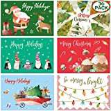 Holiday Cards with Envelopes 36 Colorful Christmas Greeting Cards Blank Note Christmas Elements Office School Home Party Supply