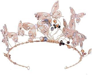 FELICILII Corona Farfalla Corona Abito da Sposa Accessori Gioielli da Sposa Copricapo Fascia Corona Reale