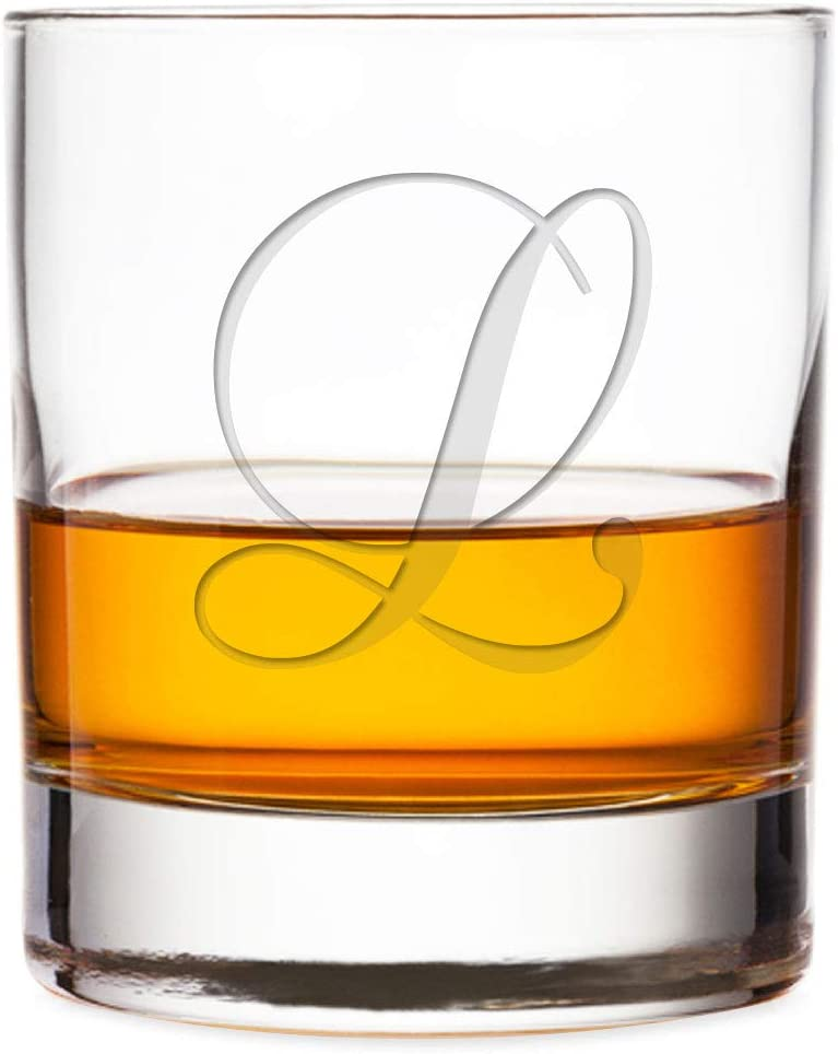 Intricate Script Letter L 10-Ounce Engraved Our shop most popular Glass Be super welcome Rock