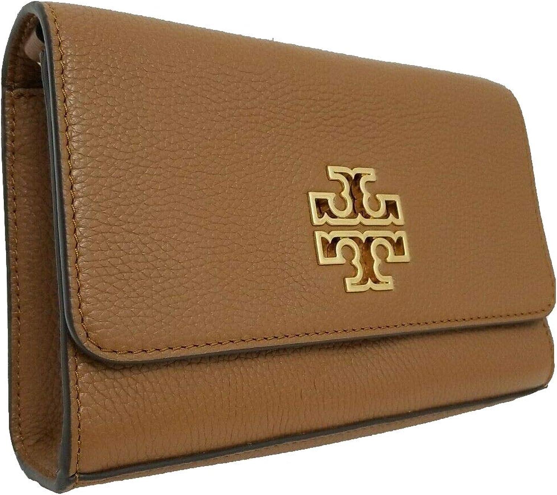 Tory Burch Britten Leather Combo Crossbody Bag