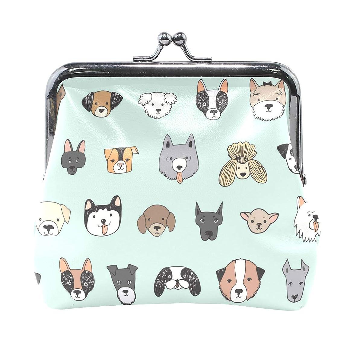 フェザースタック聖なるがま口 財布 口金 小銭入れ ポーチ 動物 犬 猫 ANNSIN バッグ かわいい 高級レザー レディース プレゼント ほど良いサイズ