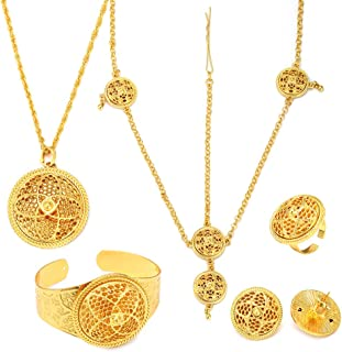 24K Gold Plated Ethiopian Women Wedding Traditional Jewelry Sets