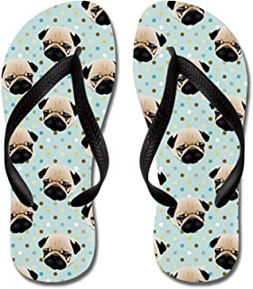 Pugs On Polka Dots.Jpg Beach Sandals