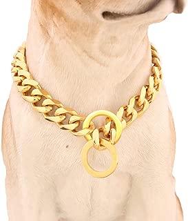 Best gold choker dog collar Reviews