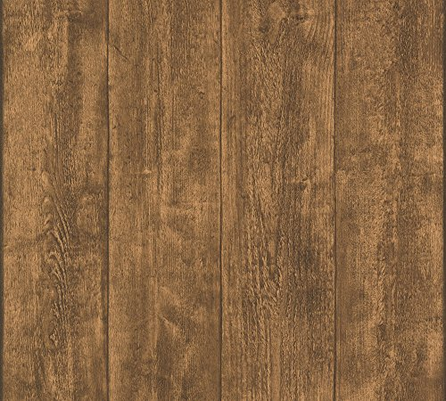 A.S. Création Vliestapete Best of Wood and Stone Tapete in Holz Optik fotorealistische Holztapete 10,05 m x 0,53 m braun Made in Germany 708823 7088-23