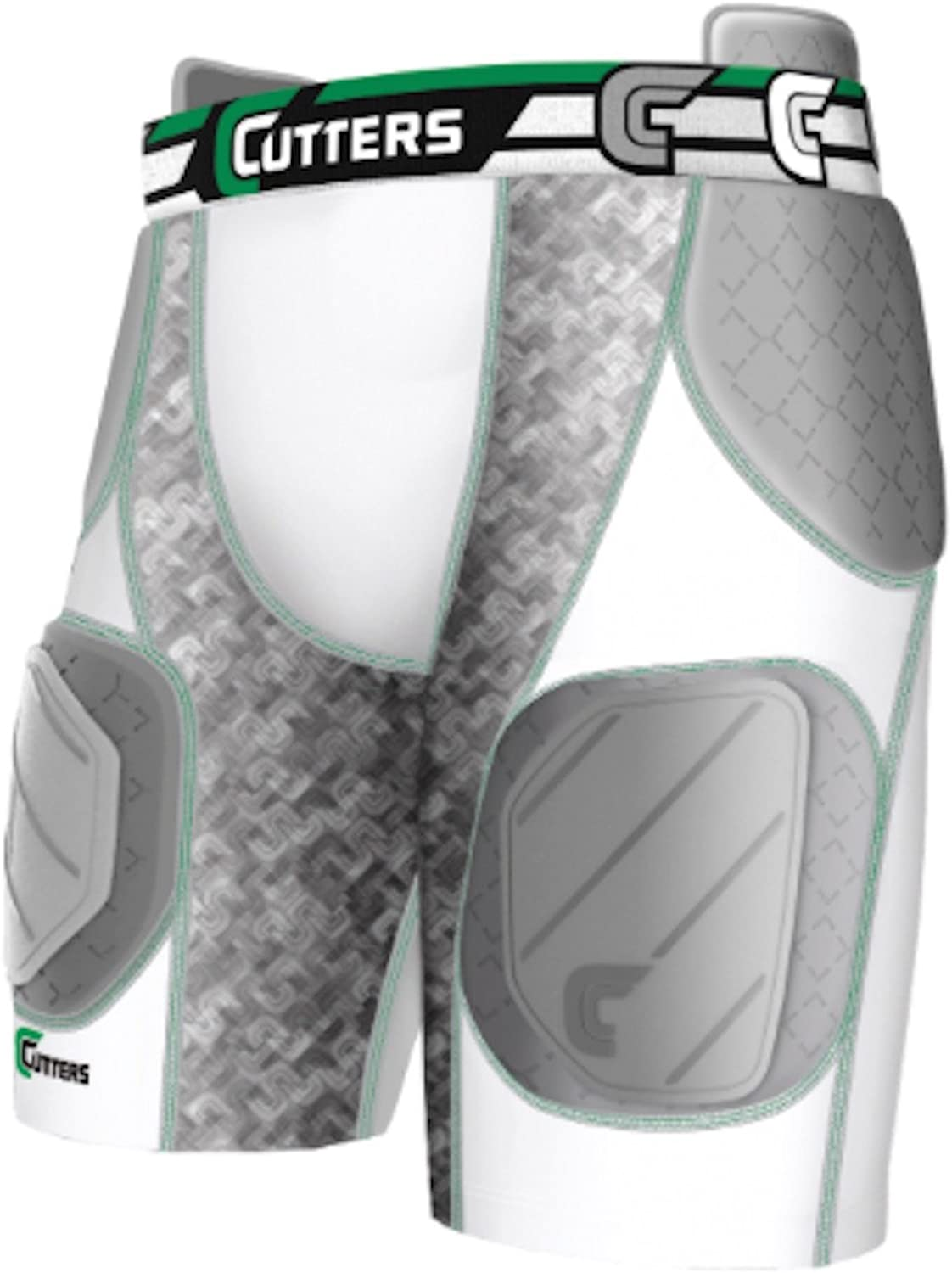 (Medium)  Cutters Rev Impact 5Pad Short with Removable Hard Cap, Adult