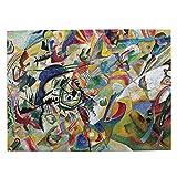 LKQTH Famoso Abstracto Fine Art Pintura De Composición Vii Rompecabezas De Madera Rompecabezas De 500 Piezas De La Imagen Puzzle Para Adultos Adolescentes