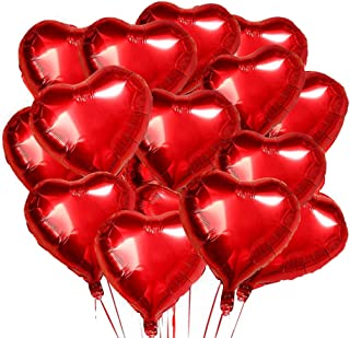 O-Kinee Forme de Coeur Ballons,30 pcs Ballon Coeur Rouge,Ballon Coeur,Ballons de Fleuret,pour Anniversaire,Mariage,Saint V...