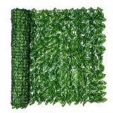 Vall-a extensible, vall-a de setos artificiales y decoración de hojas de vid de imitación, vall-a de ratán con protección UV, pantalla de privacidad para interiores, exteriores, decoración de jardines
