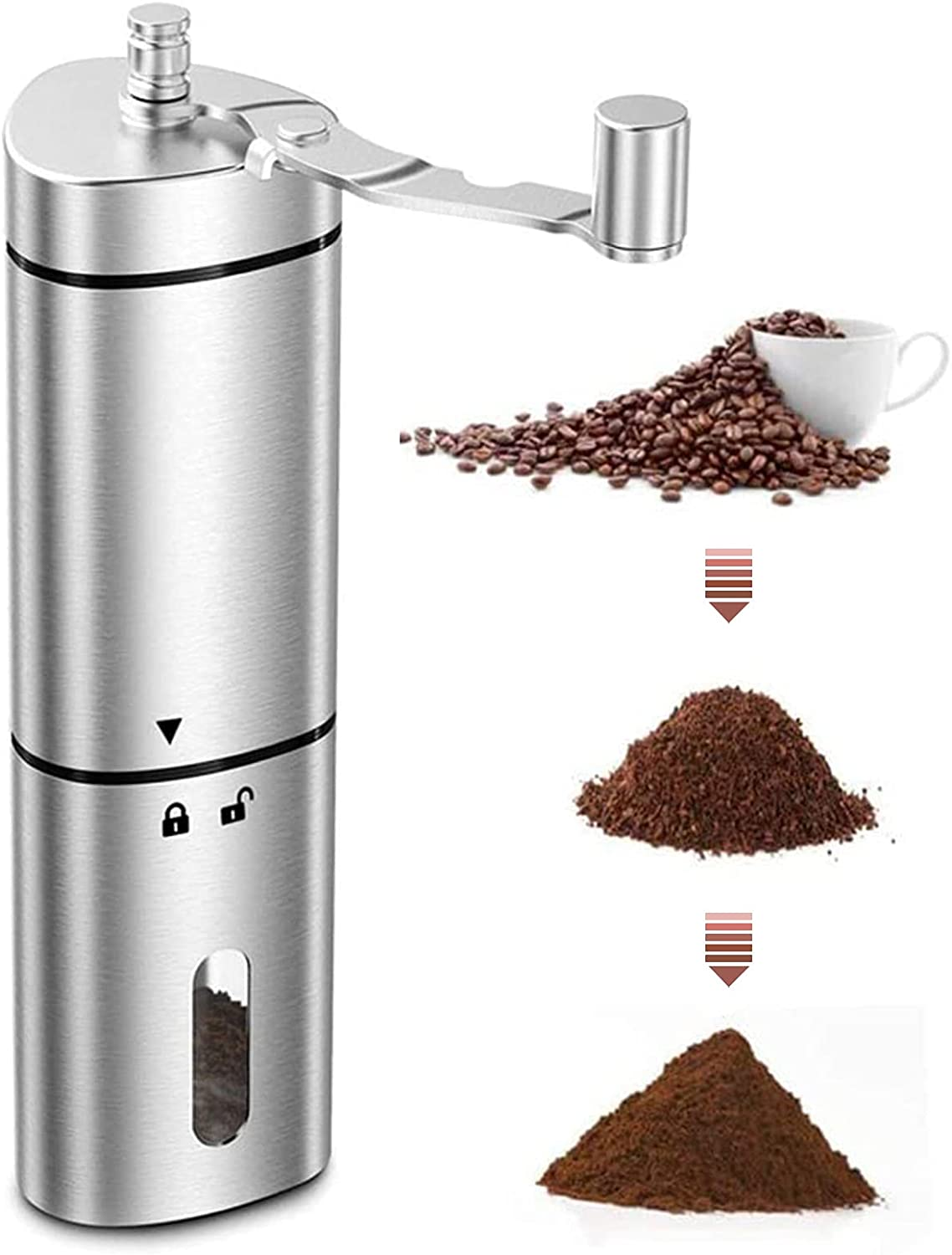 Manual Coffee Some reservation Grinder with AMAMIA Max 73% OFF Adjust