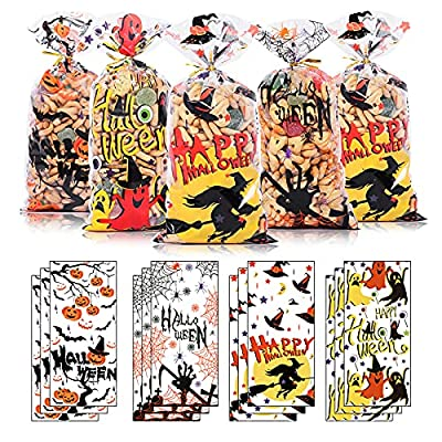 Amazon Promo Code for Halloween Cellophane Bags Cute Halloween Treat Bags for 11102021075535