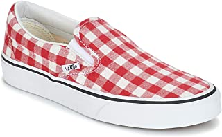 Vans New 2019 Adult Unisex Classic Slip_ON Gingham Racing RED True F7VDY