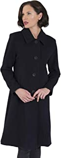 Coat Man Single Breasted Tailored 3/4 Length Jacket Button to Neck Or Open to Revere