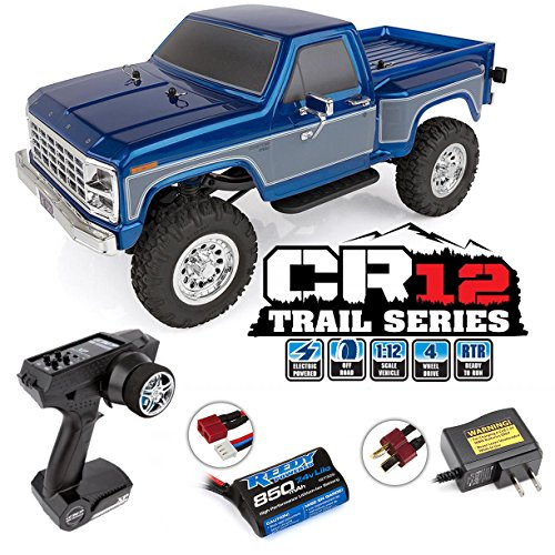 Team Associated 40002 CR12 Ford F-150 Pick Up Truck Ready to Run, Electric 1: 12th Scale 4WD, Brushed (Blue)