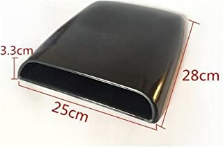 KaTur Universal Car Decorative Air Flow Intake Hood Scoop Vent Turbo Bonnet Cover Black