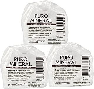 Desodorante de Alumbre de Amonio Natural en Piedra en Bruto - 3 x 160/190 gr - Puro Mineral - Cantitad: 3