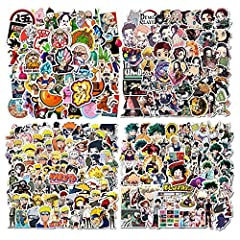 ☆ ANIME STICKERS - 200 different Anime stickers. 4 Styles, 50 for Each Style. Each is about 2-4 inches. ☆ ANIME STICKER PACKS - You will receive the pattern seen in the picture: Naruto Stickers, Demon Slayer Sticker, Dragon Ball Z Stickers, My Hero A...