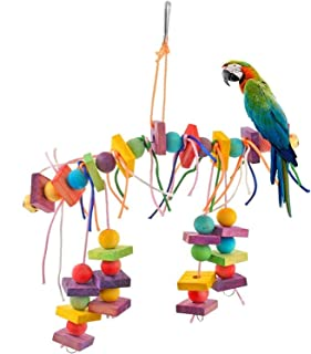 Wood Pet Parrot Bird Toys Chew Climbing Swing Toys Parrots Cage Stairs Windchimes Funny Pet Supplies Bird Toys HotNew