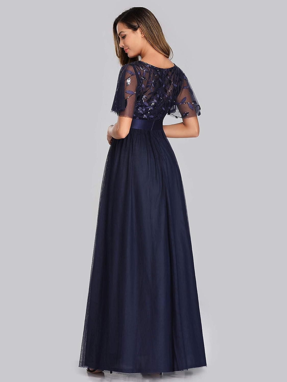 Ever-Pretty Women's A-Line Empire Waist Embroidery Evening Prom Dress 0904