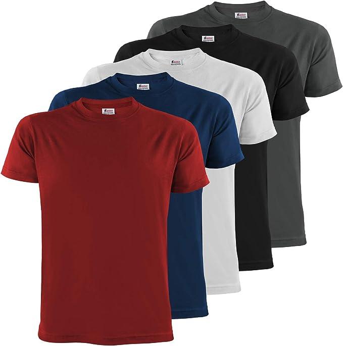 3098 opinioni per ALPIDEX T-Shirt da Uomo Confezione da 5 con Girocollo- Taglie S M L XL XXL 3XL