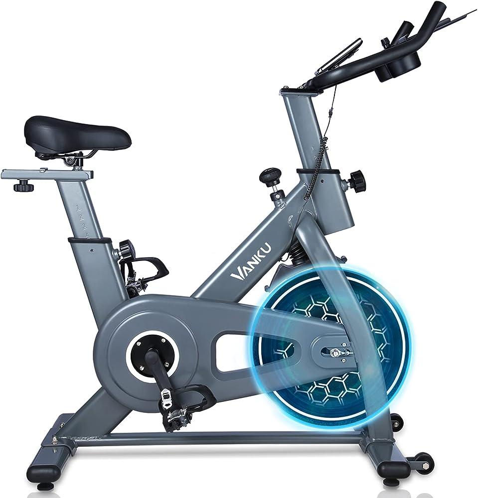 Vanku, cyclette spinning bike a controllo magnetico, resistenza regolabile e display lcd
