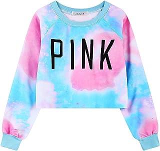 Ancia Girls Teens Womens Cute Sweetshirt Pullover Sweater Long Sleeve