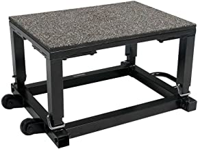 Power Systems Step Up Box with Wheels, Height Adjustable from 14-20 Inches, 28 x 20 Inch Platform, Black (40210)