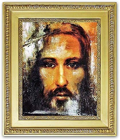 JVmoebel Religion Jesus Christus Handarbeit Ölbild Bild Ölbilder Rahmen Bilder G01093