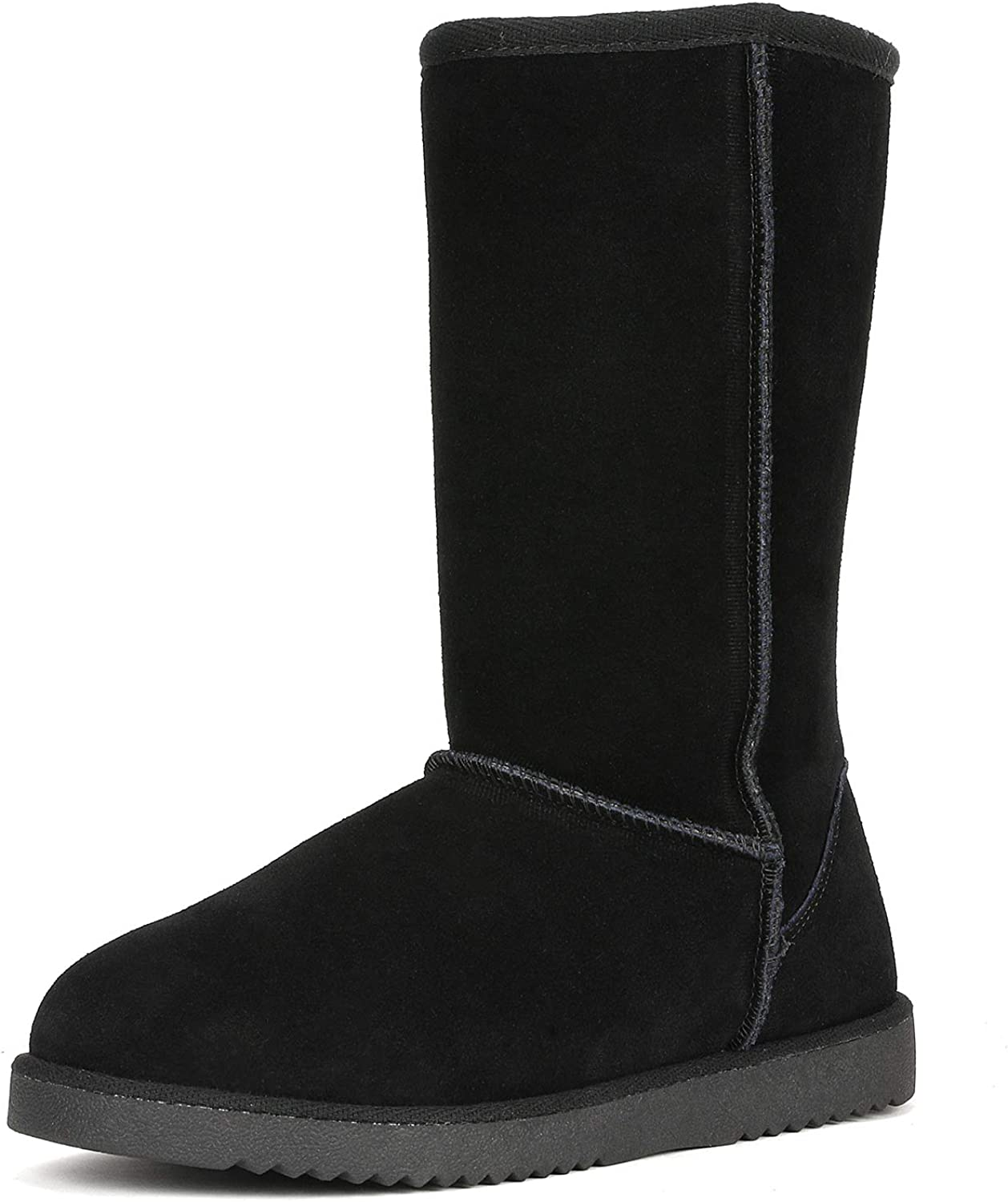 DREAM PAIRS Women's Shorty-New Mid Calf Winter Snow Boots