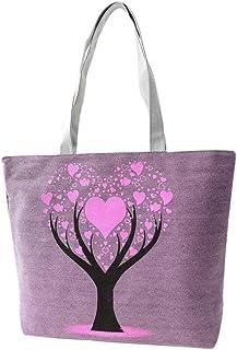 Wultia - Bags for WAMEN Fashion Cute Printing Women Canvas Bags Shoulder Bag Casual Handbag Bolsa Feminina Purple