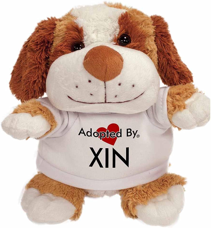 AdoptedBy TB2Xin Peluche Cane Orsac otto con Un Nome Stampato t-Shirt