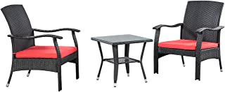 Patioflare PF-CS304BKMO Chat Set, Red