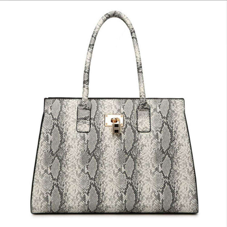 JQSM Women PU Leather Shoulder Bag Snake Crossbody Bag for Women Handbags Ladies Handbags Messenger Bag Totes