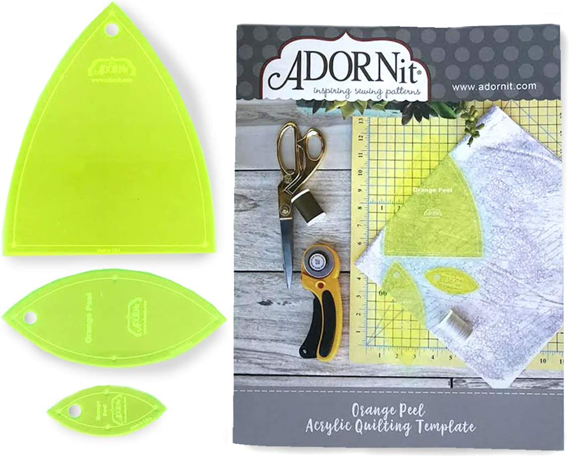 ADORNit Oakland Mall Acrylic Our shop OFFers the best service Quilting Template and Combo Pack Quil Book DIY