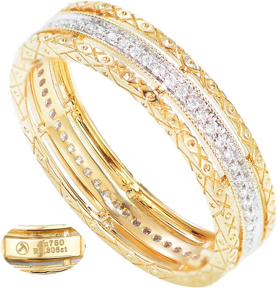 anello donna eternity in oro giallo 18kt con diamanti sl-5