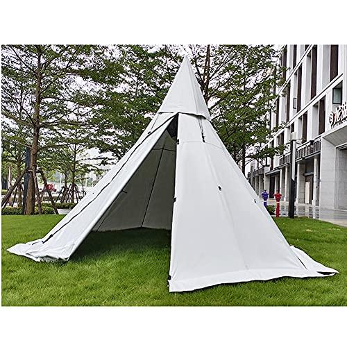 Massage-AED Tipi Hot Tents Carpas al Aire Libre Tipi con Orificio para Estufa Carpa piramidal Familiar...