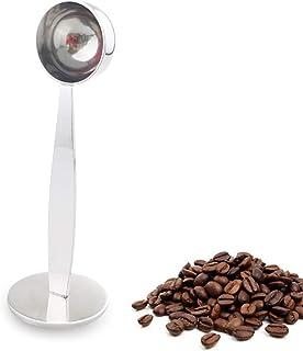 2 في 1 الفولاذ المقاوم للصدأ قياس القهوة سكوب العبث إسبرسو القهوة المطرقة ملعقة القهوة والشاي أدوات قياس اللمبة مغرفة المق...