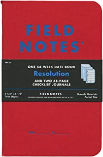 Field Notes Resolution Special Edition Memo Books, 2 Checklist Journals and 1 56-Week Date Book, (3-1/2
