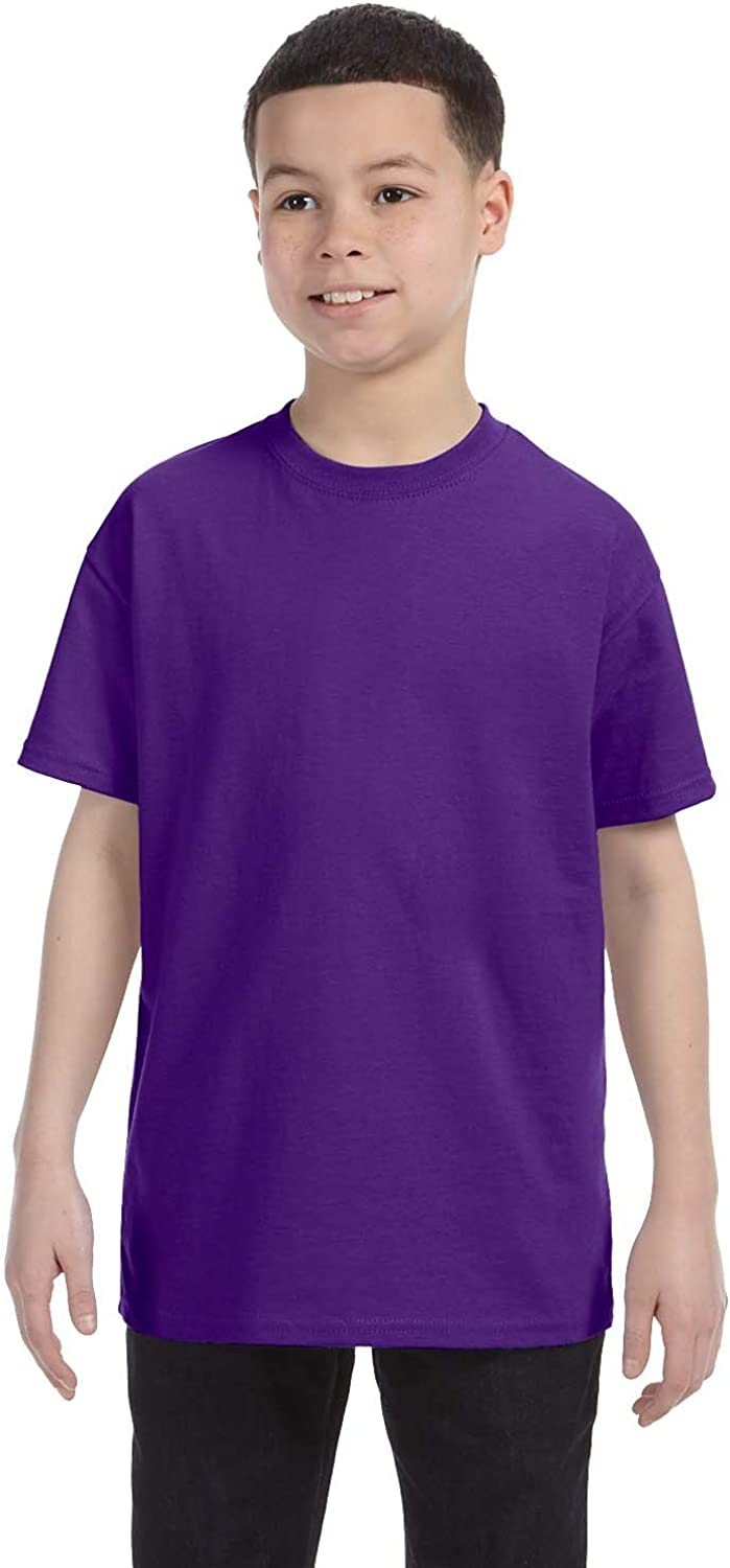 By Hanes Youth 61 Oz Tagless T-Shirt - Purple - S - (Style # 54500 - Original Label)