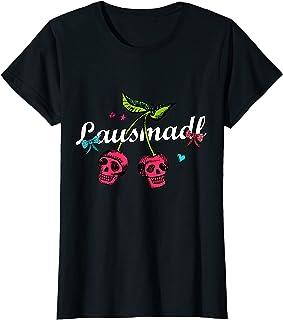 Lausmadl Totenkopf Madl Frauen Bayern Ersatz Dirndl Tracht T-Shirt