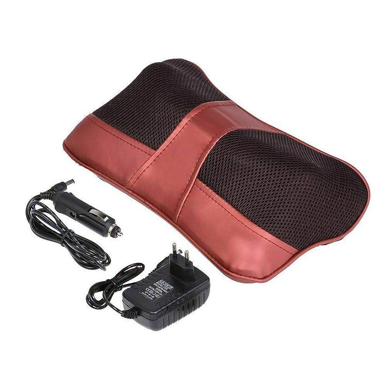 ラフレシアアルノルディメトロポリタンソロ首のマッサージの枕、指圧のマッサージャー、背中の首の肩の筋肉の痛みを和らげるための熱い深い混練クッション付き、ホームオフィスの車のベッドのために