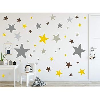 Timalo 120 Stuck Wandtattoo Kinderzimmer Xl Sterne Pastell Wandsticker Aufkleber 73079 Set10 120 Amazon De Baumarkt