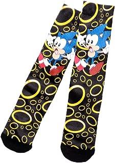 Sega Sonic the Hedgehog Rings Sublimated Crew Socks