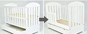 Baby COT with Drawer Junior Bed quot SISI quot  Free Mattress Drawer