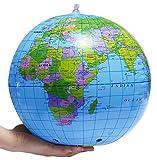 Globo inflable - Bola de playa mundial 30 cm - Juegos al aire libre - Bola inflable tierra